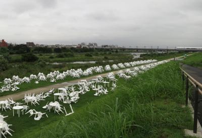 多摩川花火大会、豪雨中止の翌日