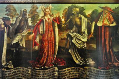 エストニアへ! その8 首都タリン旧市街の聖ニコラス教会へ。お目当ては「死のダンス」。タリンの中世芸術をゆっくり堪能しました。