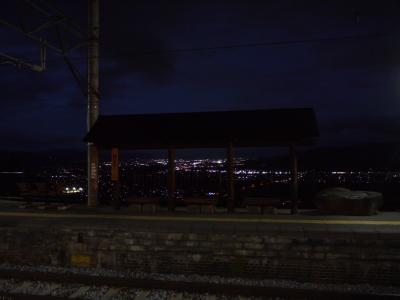 2017夏の18きっぷ 【4回目・後半】夜景が見たい!夜の篠ノ井線の旅(奈良井駅で寄り道あり)