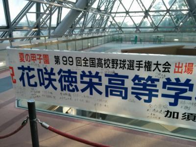 花咲徳栄高校優勝おめでとうde埼玉県加須市パブリックビューイング観戦