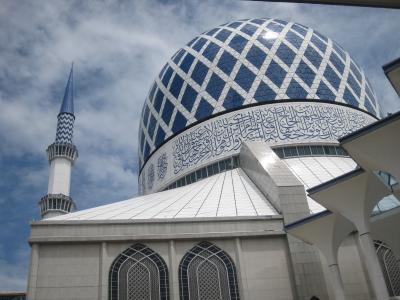 2017夏休み・マレーシア旅行/行って良かったブルーモスク。その後は街歩き。