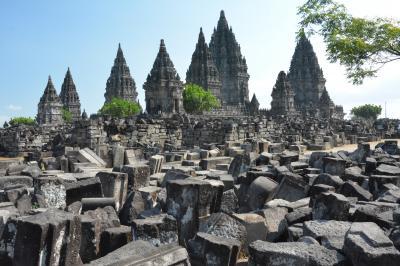 インドネシアの遺跡と火山とビーチ【1】プランバナン遺跡とムラピ山ジープアドベンチャー