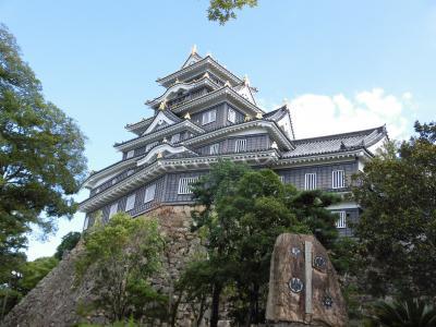 2017夏 18きっぷの旅2-2:初訪問岡山 岡山城とデミカツ丼