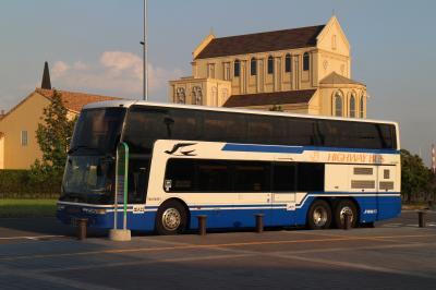 【バス乗車記】中部国際空港→金城ふ頭、JR東海バス二階建て車両、乗客は・・・一人貸切。