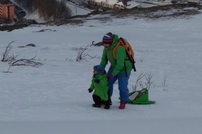 ヨーロッパ最北の駅 ノルウエー の ナルビク。北極圏にて スキー・魚釣り。街並み