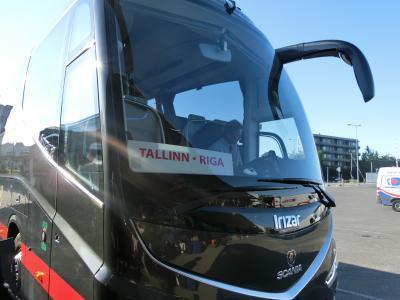 ラトヴィアへ! その1 エストニアのタリンから路線バスに乗って国境を越え、ラトヴィアの首都リガへ。