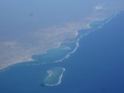 帰国、上空からマダガスカル島が見えました。 2017/08/24,25