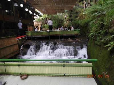43年ぶりの京都、貴船の「ひろや」で川床料理と地元の美味しい野菜料理「暁」のお話