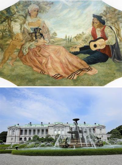 展覧会は夏枯れ?いえいえ、迎賓館では藤田嗣治の壁画6枚を、一挙公開!!