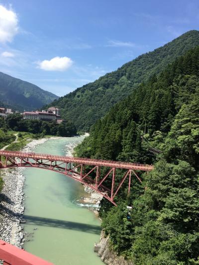 宇奈月峡谷トロッコ列車の旅  (夏休み初日)
