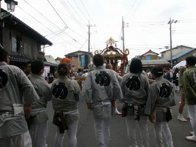 土師祭(はじさい)・・・2-2 鷲宮神社通り沿道の露天と祭りを楽しむ風情を・・