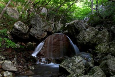 ◆爽風わたる安達太良山麓・三日月の滝