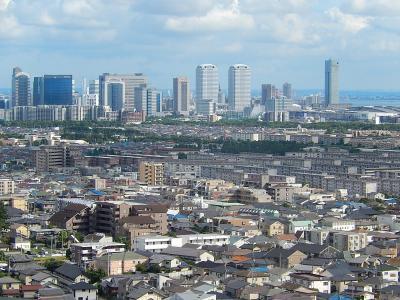 習志野市奏の杜高層マンションから見られる風景