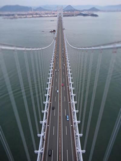 この夏最後の、青春18きっぷでの大忙し日帰りtrip! 瀬戸大橋の塔の上、海上175mからの眺めやいかに?!