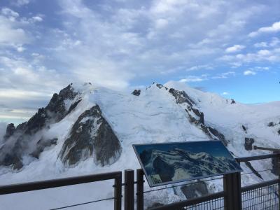 【スイス横断旅行+ミラノ】③ 雨の予報の中、エギュ・ド・ミディ展望台からモンブランを眺めに