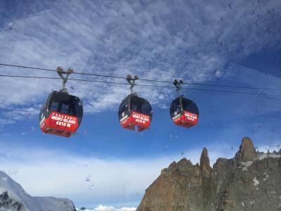 【スイス横断旅行+ミラノ 】④ エギュ・ド・ミディ展望台から「ル・パノラミック・モンブラン」ゴンドラにのってイタリア側にいってみる