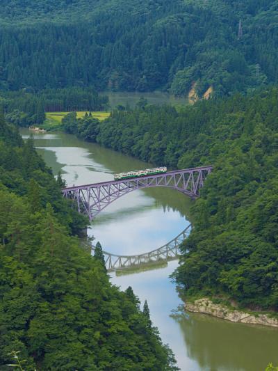 会津旅04 只見線第一橋梁を望む~福満虚空蔵尊円蔵寺