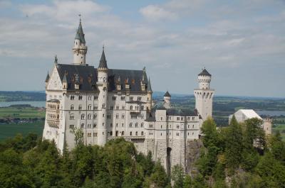 ノイシュヴァンシュタイン城で来年のカレンダーを撮影する