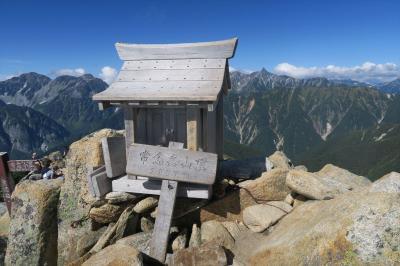 2017年09月 日本百名山39座目となる、常念岳(じょうねんだけ、標高2,857m)