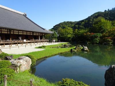 2017年9月 京都観光(鴨川川床ランチ~嵐山観光スポット巡り)