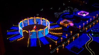 動画 ハウステンボス 光の塔の上から 1分14秒。