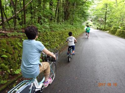家族で行く軽井沢とその周辺旅行【3日目】 旧軽井沢サイクリング