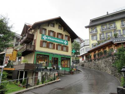 2017年7月 スイス7日目 その3 ウェンゲンの街歩き。急に白いガスに包まれたりしまいsた。