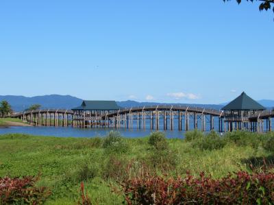 大人の休日倶楽部パスで行く青森の旅。その1、CMで人気の「鶴の舞橋」3回目の訪問です。