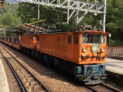 2015/10 墓参りついでに北陸新幹線② 黒部でトロッコ電車