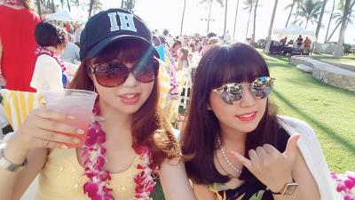 """32-2(9-12)★楽園のハワイに全員集合(*^^*)②♪雑誌やTVで紹介されたビーチ&グルメ巡り『☆オアフ西回り編』♪お誕生日は""""Noe""""で"""