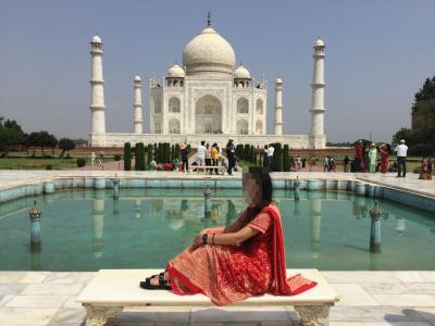 インド3 アグラ タージマハル アーグラー城