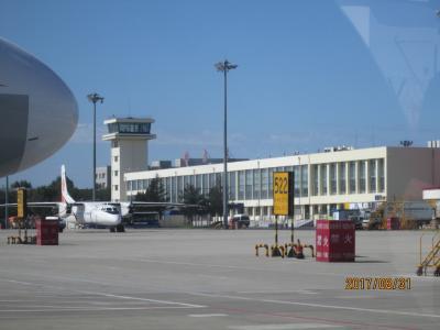 哈爾濱の太平国際空港・往路