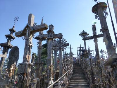 2017 バルト三国をめぐる旅 4 シャウレイ 十字架の丘