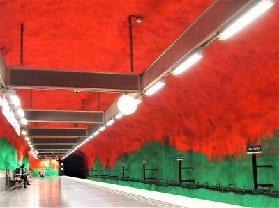 FINNAIRで・初秋の北欧へ・61歳・飛んでった⑦ストックホルム地下鉄