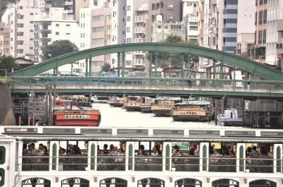 秋葉原駅から神田川を下り柳橋まで歩き、ついでに隅田川を渡って両国駅まで行く。