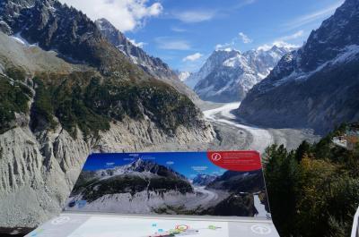 アルプス3大名峰と氷河特急 秋のスイス旅行その1 ジュネーブ~モンブラン