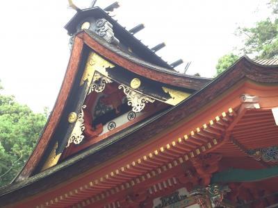 水戸八幡宮 沢山の神様と戌・亥の守護・十二支の像・現存する随神門は宝暦七年(1757)の建立