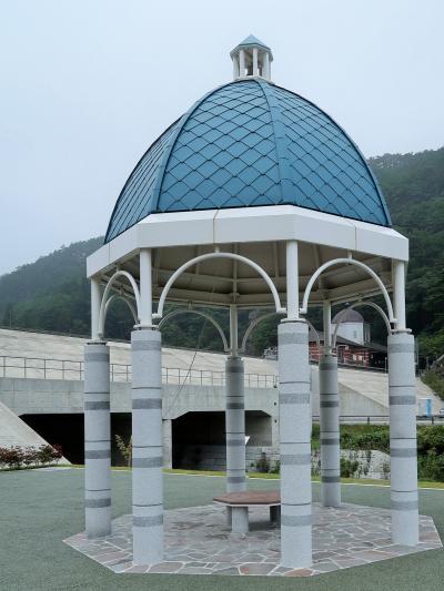 田野畑1/4 島越ふれあい公園 島越駅は元ここに ☆津波被災前の思い出とともに