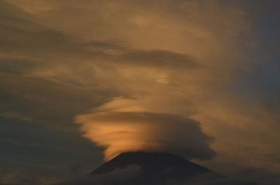 富士山の変わった雲 2017.09.12