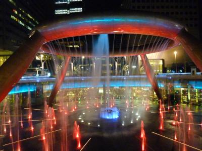 2015年2月【3】ANAビジネスクラスで行く8回目のシンガポール(春節バージョンでライトアップ「富の噴水」)