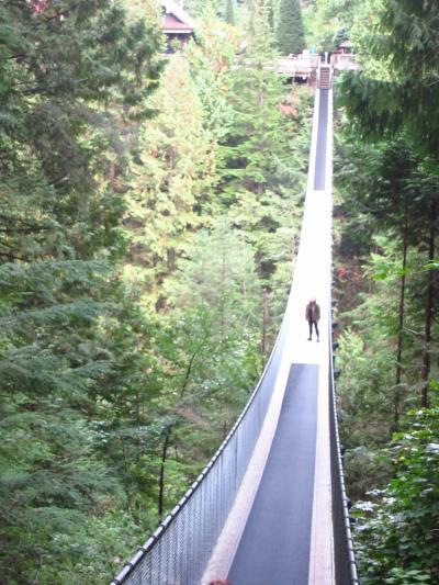 友を訪ねて4,700マイル(3/6) ~キャピラノ吊り橋とグラウスマウンテン~