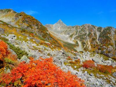 サイコウの天気と色づいた紅葉!~槍ヶ岳から天狗池~
