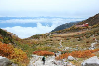 一足早い紅葉を見る為長野の山に登り続ける一人旅2日目