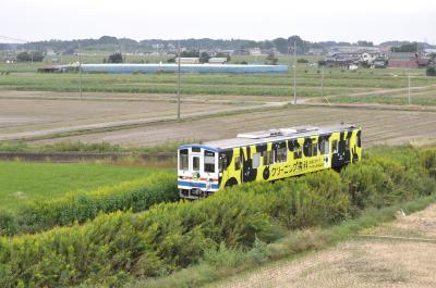 関東鉄道常総線 水海道駅から石下駅まで歩く。