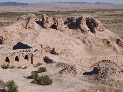 ホレズム王国の1500年前の城塞遺跡