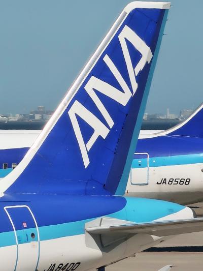 羽田空港 ANA283便 徳島行き 13:30 離陸 ☆ミステリーツアー 幸先よく窓際席!
