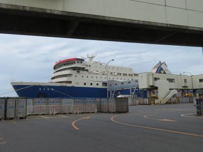 2017 台風18号襲来で予定変更した佐渡島とモグラ駅巡り <2日目-1:台風接近で欠航前に佐渡島から新潟港へフェリーときわ丸で渡航>