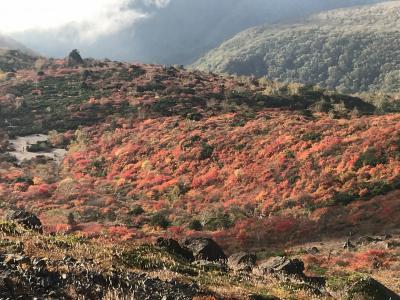 大渋滞の那須岳紅葉狩り登山