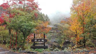 「白骨」紅葉真っ盛りの白骨温泉で日帰り入浴する旅