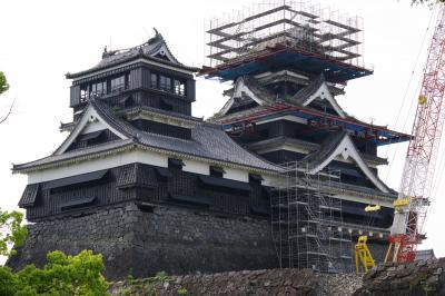 大地震の後、修復が待たれる熊本城  西九州縦断の旅 5